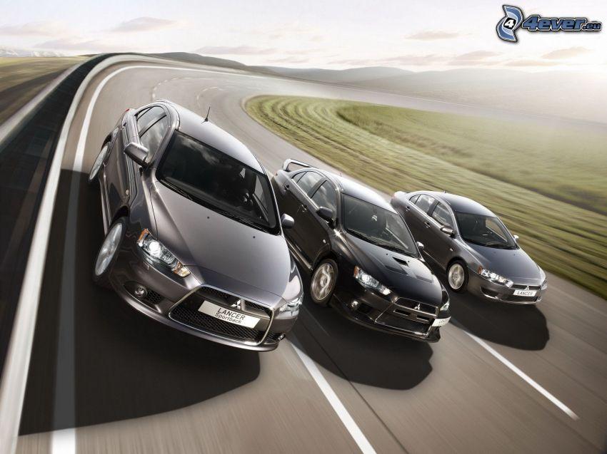 carreras, Mitsubishi Lancer, acelerar