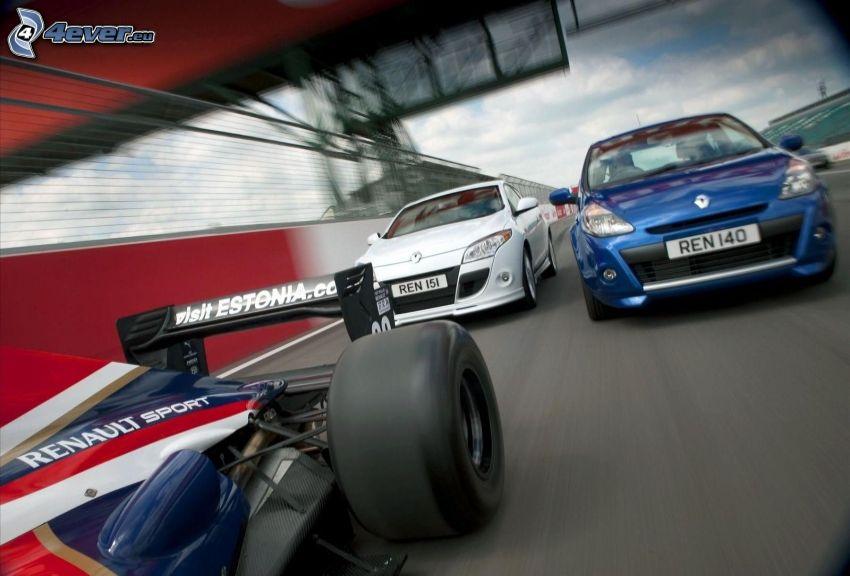 carreras, Renault, fórmula, acelerar