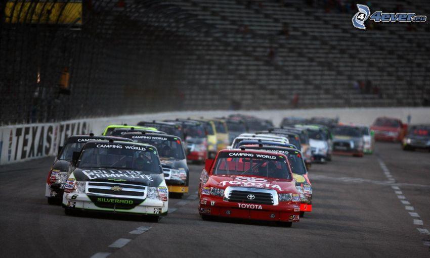 carreras, Toyota, Chevrolet, coche de carreras, carreras en circuito