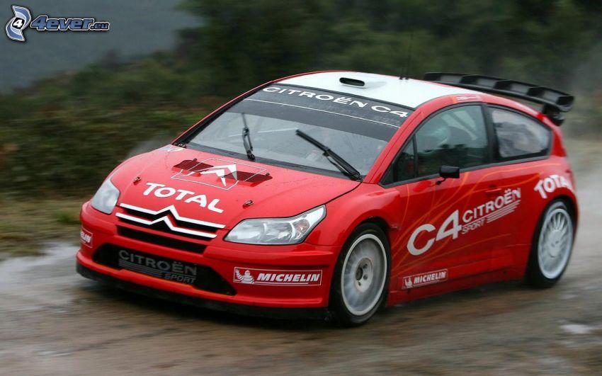 Citroën C4, coche de carreras, acelerar