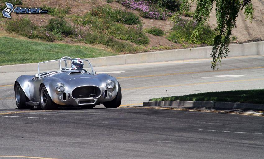 coche, veterano, carreras en circuito, curva