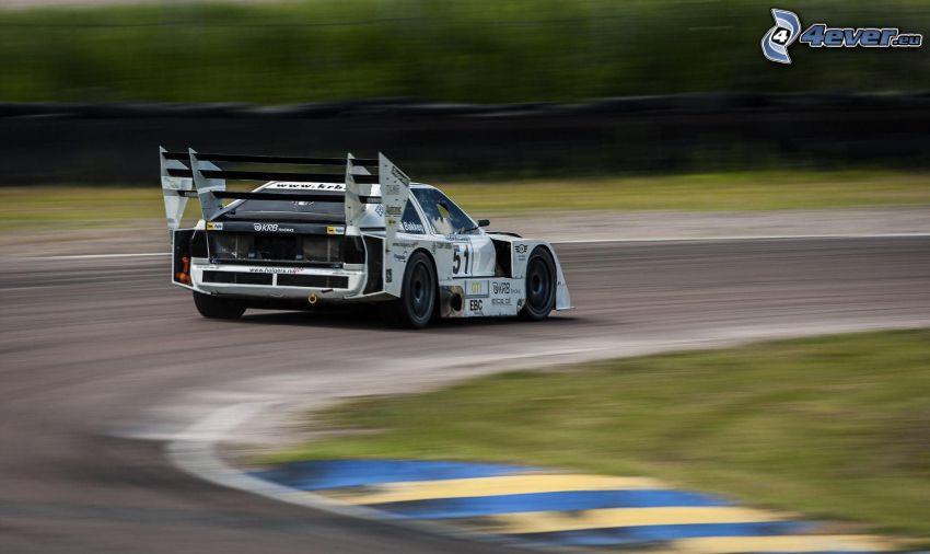 coche de carreras, acelerar, carreras en circuito, curva