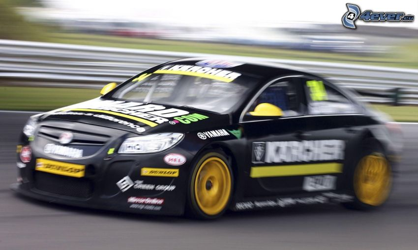 coche de carreras, acelerar