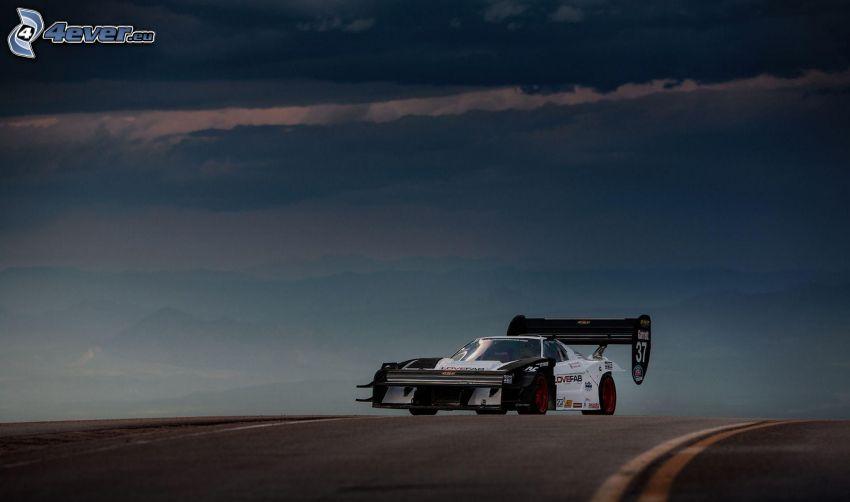 coche de carreras, camino