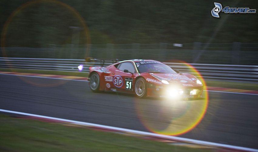 coche de carreras, carreras en circuito, acelerar