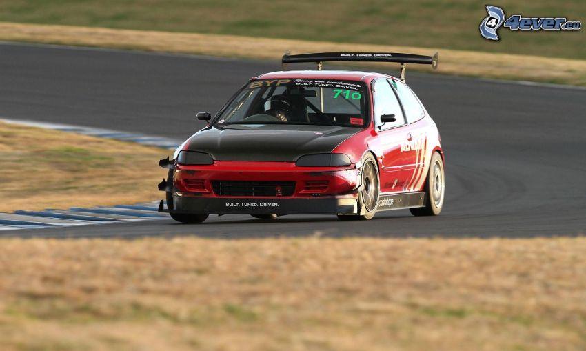 coche de carreras, carreras en circuito