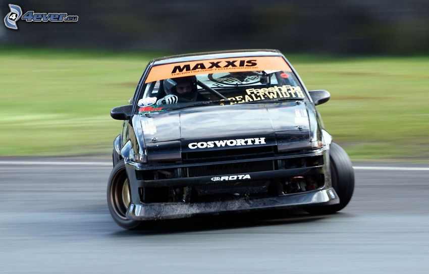 coche de carreras, drift, acelerar