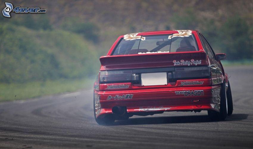 coche de carreras, drift