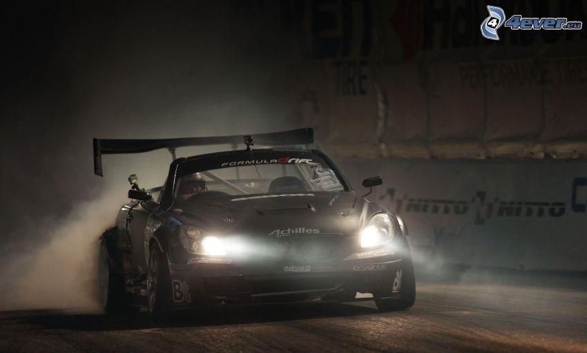 coche de carreras, luces