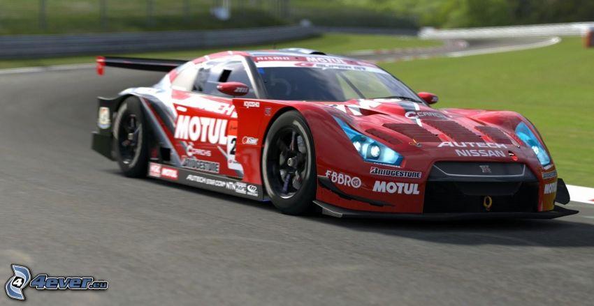 Ferrari, coche de carreras, carreras en circuito