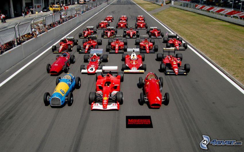 Ferrari, fórmula, carreras en circuito