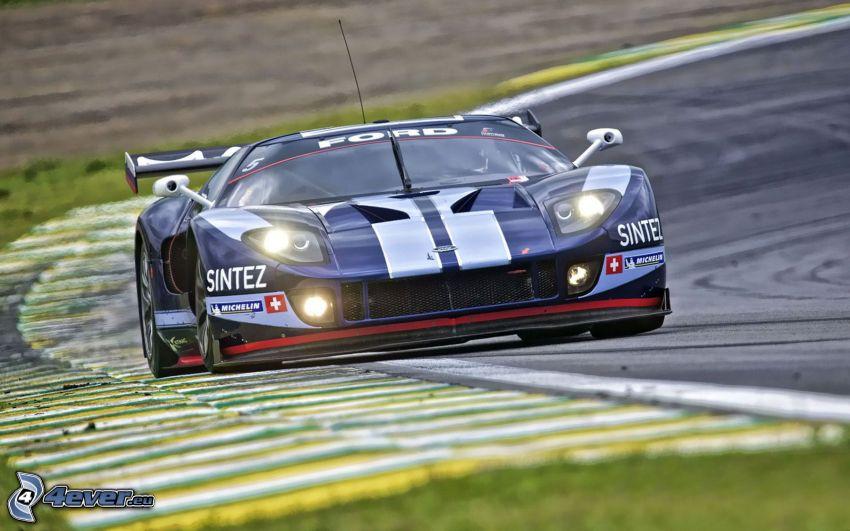 Ford, coche de carreras, carreras en circuito