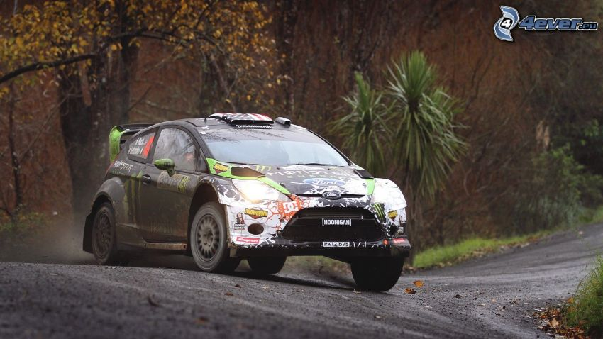 Ford Fiesta RS, coche de carreras, rally