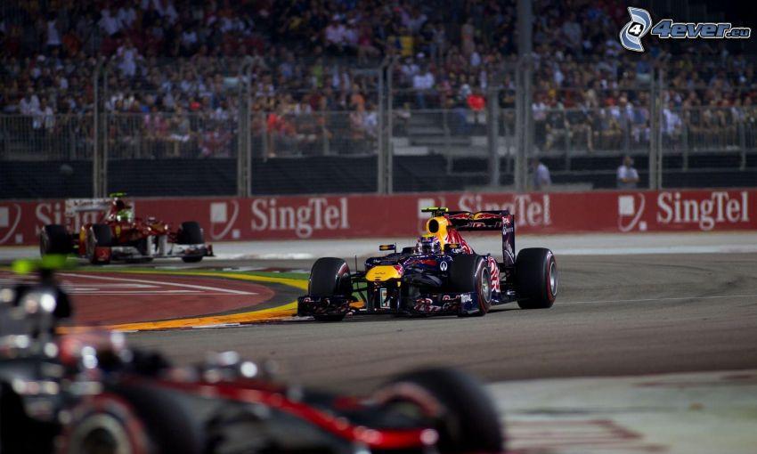 fórmula, carreras en circuito