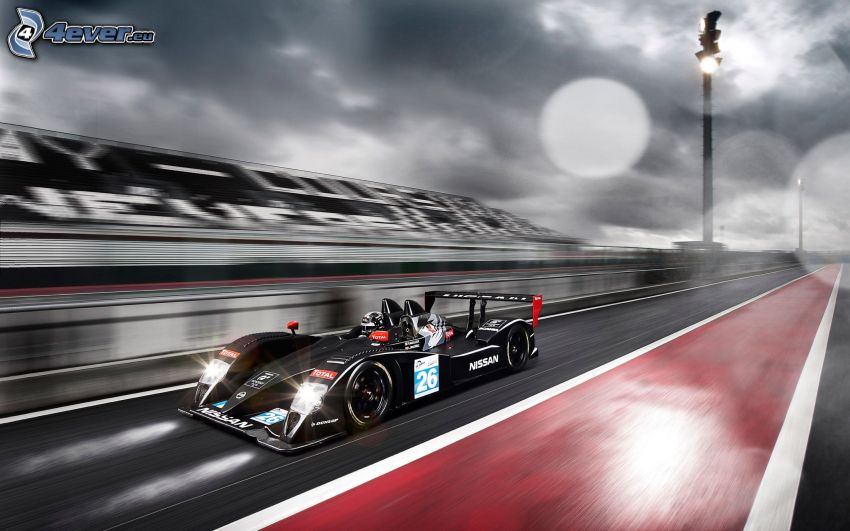 fórmula, Nissan, acelerar, carreras en circuito