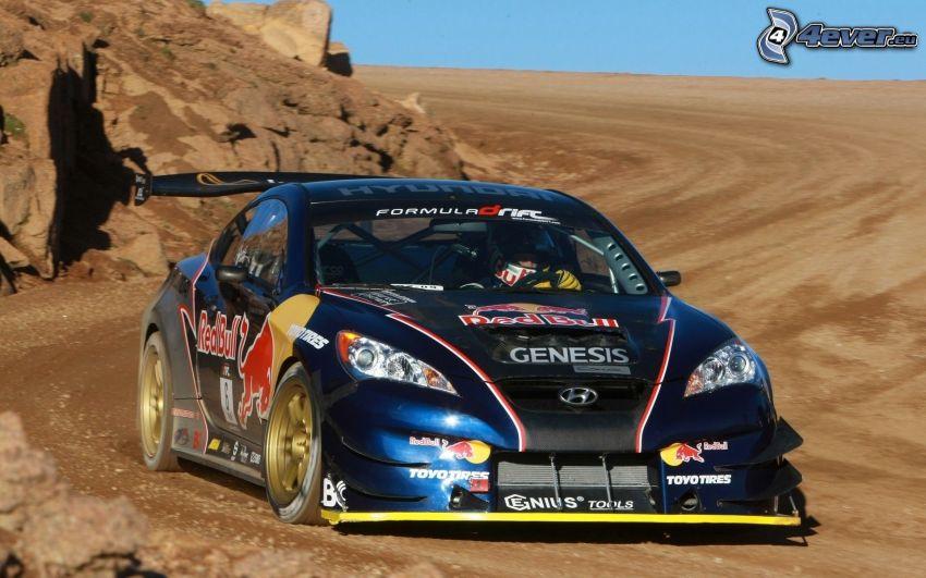 Hyundai, coche de carreras, rally