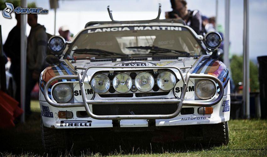Lancia, coche de carreras, delantera de coche