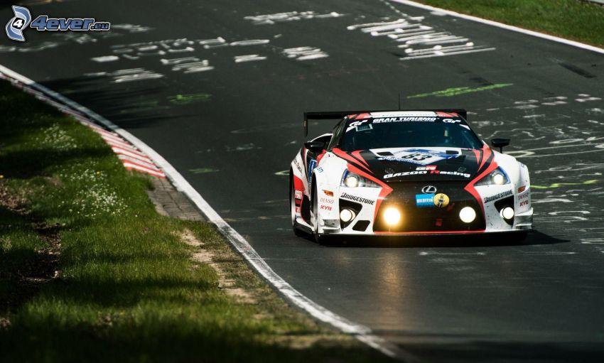 Lexus, coche de carreras, luz
