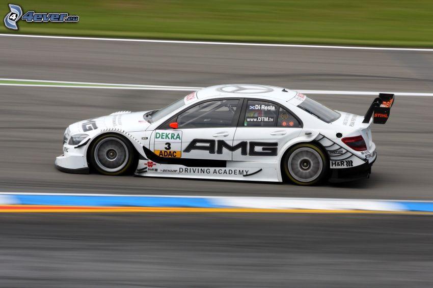 Mercedes-Benz SLS AMG, coche de carreras, acelerar