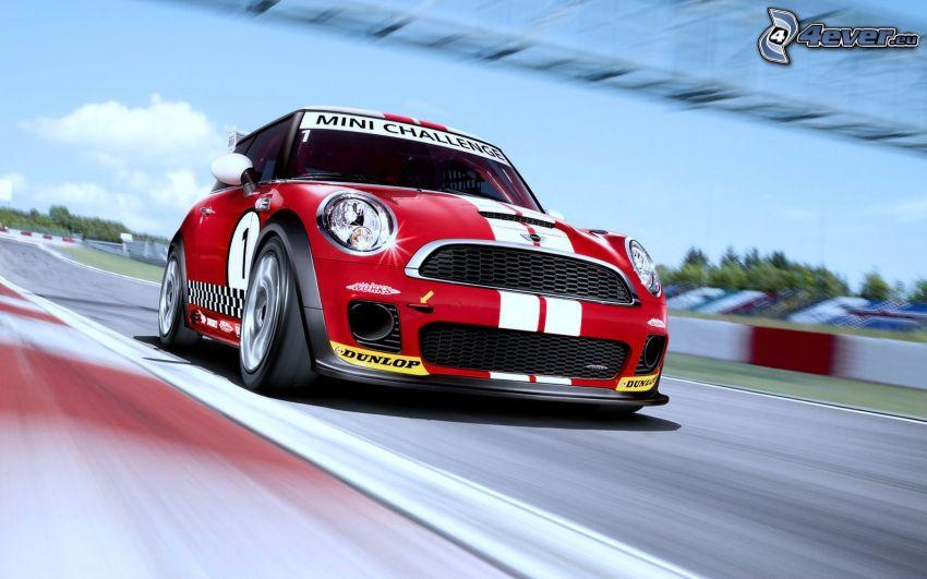 Mini Cooper, acelerar, carreras en circuito