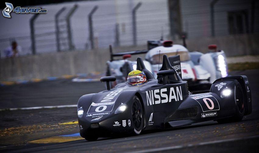 Nissan, coche de carreras, carreras, carreras en circuito