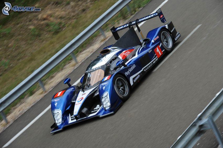 Peugeot, coche de carreras, acelerar