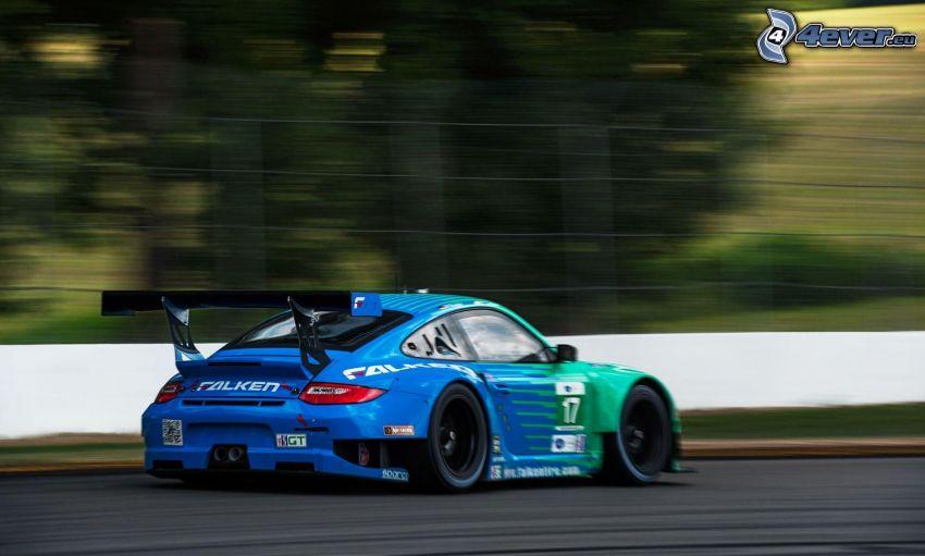 Porsche, coche de carreras, acelerar