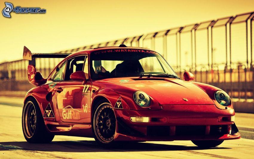 Porsche 993, coche de carreras, veterano