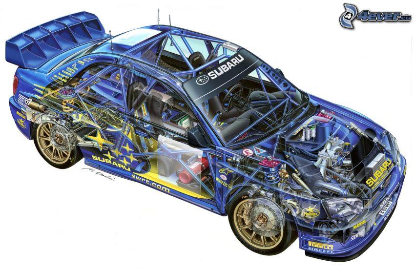 Subaru Impreza WRC, estructura