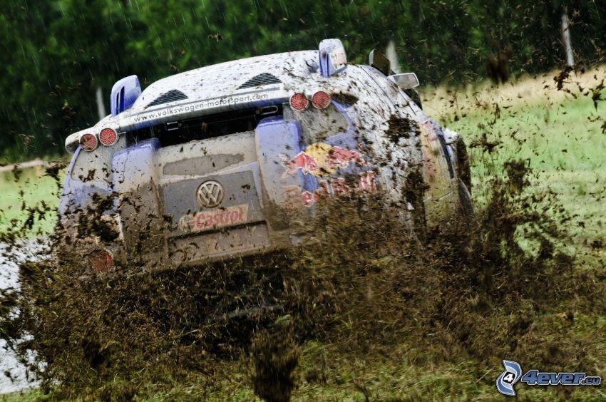 Volkswagen Race Touareg 2, Dakar, carreras, barro