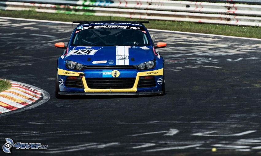 Volkswagen Scirocco, coche de carreras, carreras en circuito