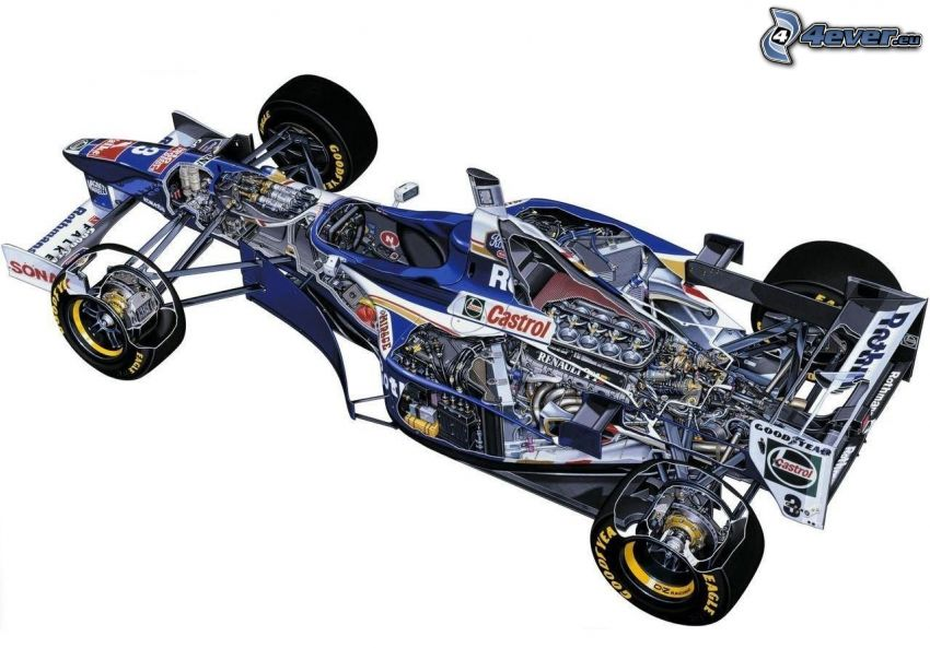 Williams FW19, monoposto, estructura