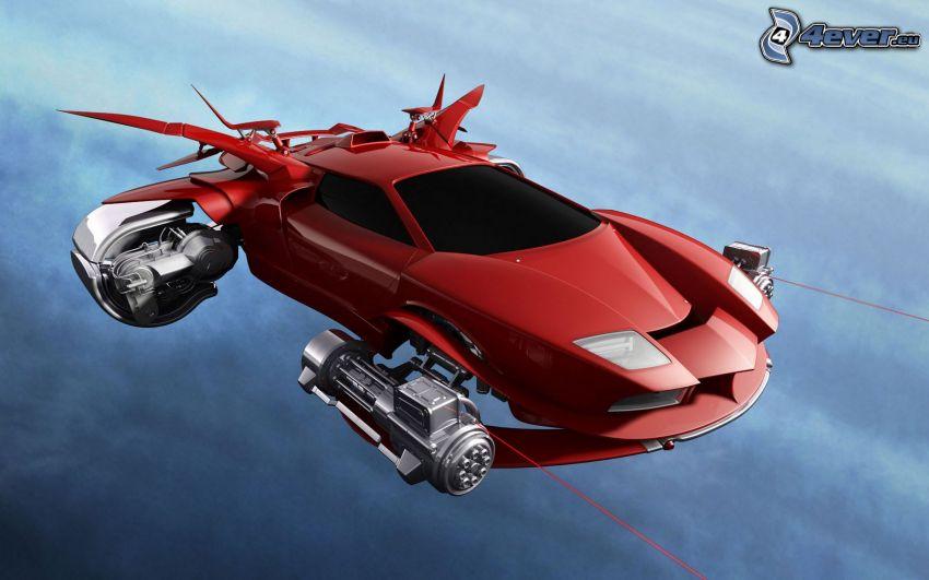 coche, ciencia ficción, vuelo