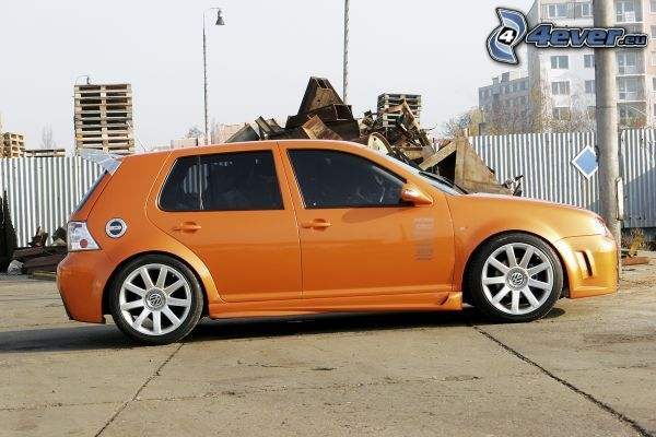 coche, golf, tuning