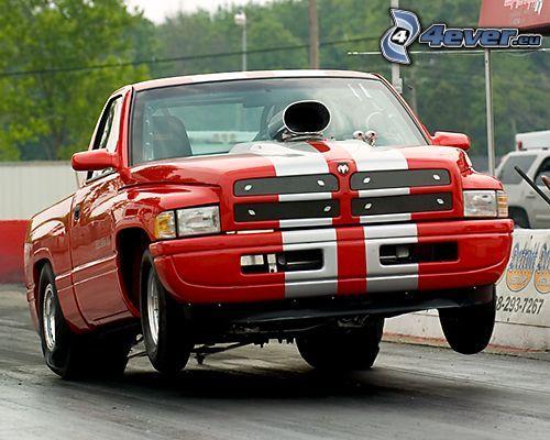 Dodge Truck, drag race, Big Block