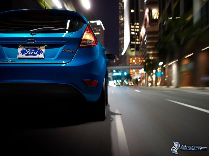 Ford Fiesta RS, calle, camino