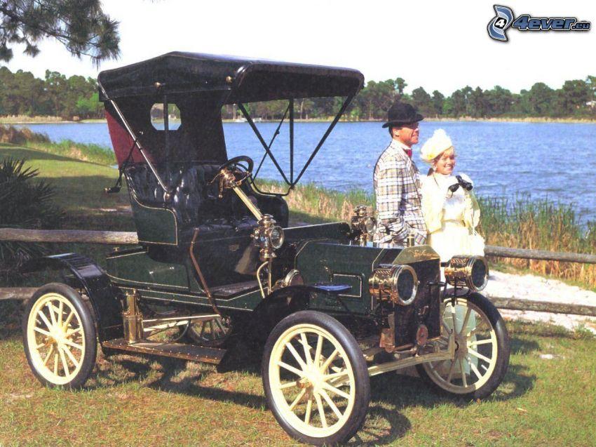 Ford Model S, veterano, lago