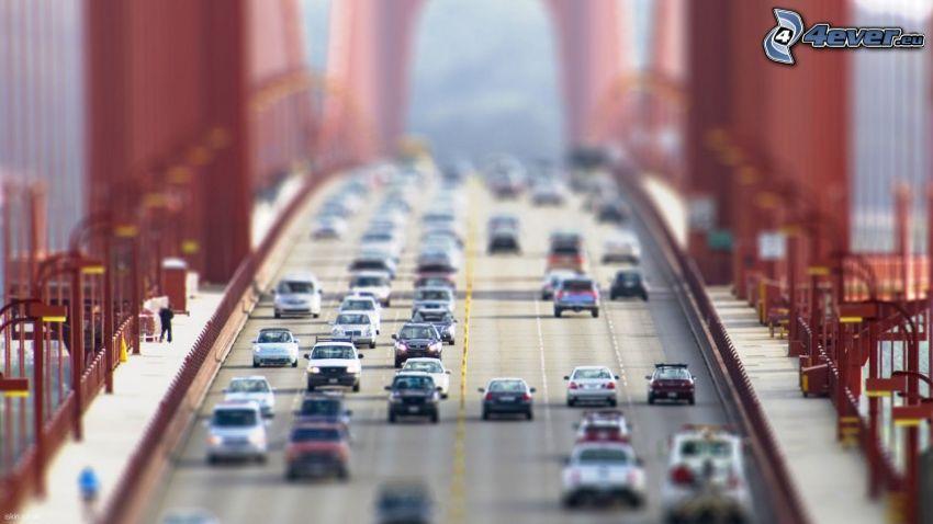Golden Gate, transporte, puente, diorama