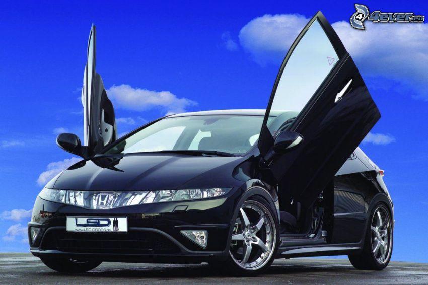 Honda Civic, nube, cielo