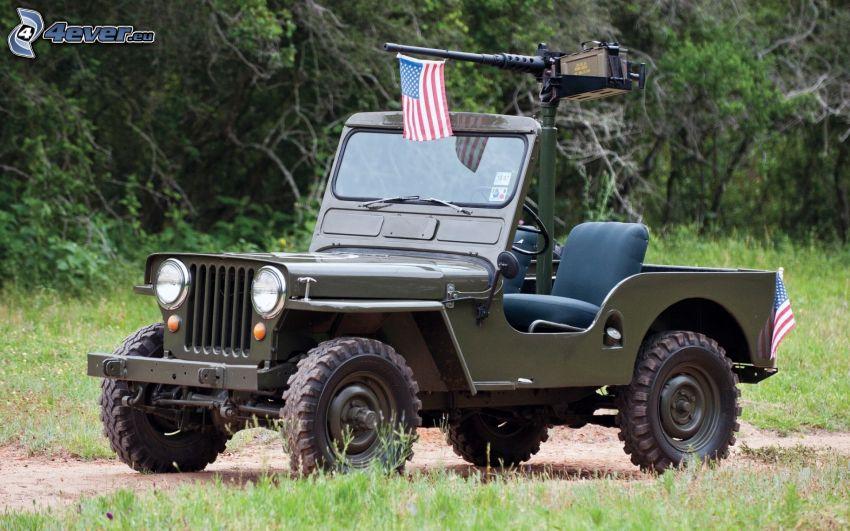 Jeep, bandera americana