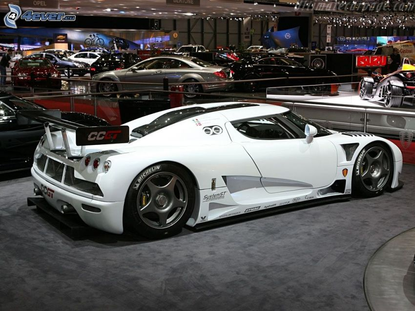 Koenigsegg CCGT, exposición, Motor Show