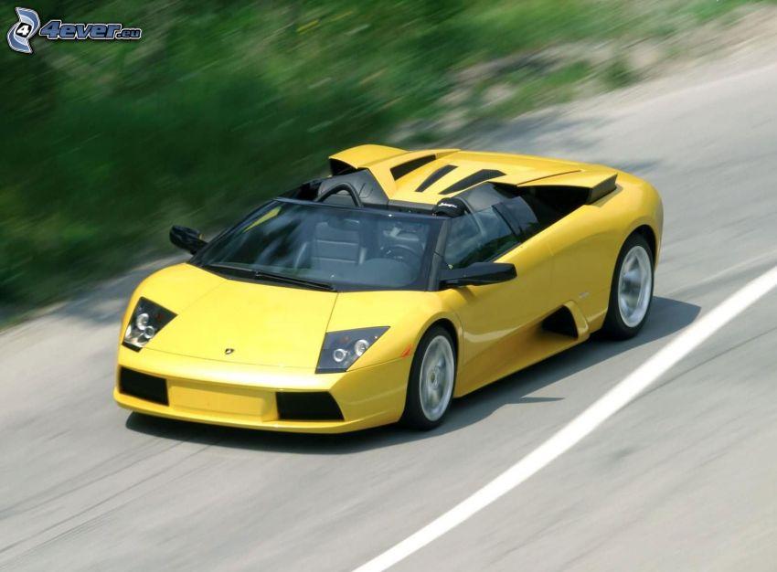Lamborghini Murciélago, descapotable, acelerar