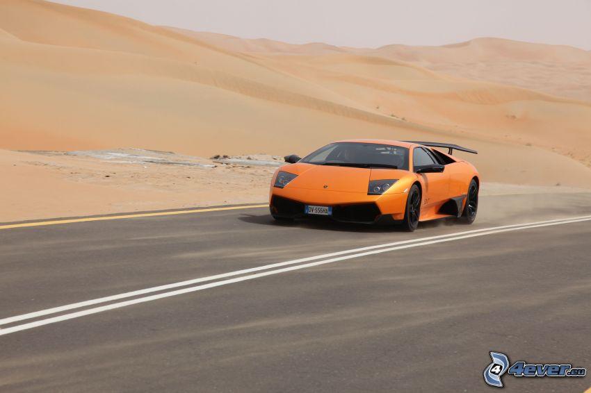 Lamborghini Murciélago, desierto, dunas