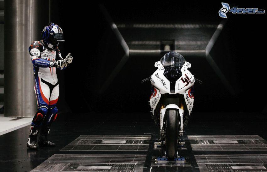 BMW motocicleta, motociclista