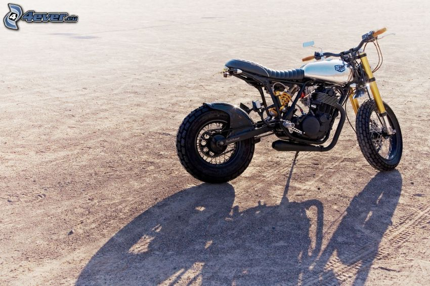 motocicleta, sombra