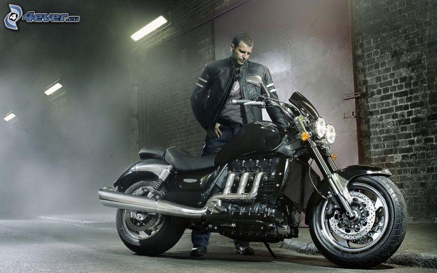 motociclista, motocicleta
