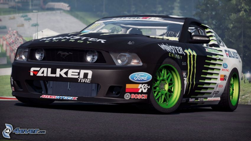 Need For Speed, Ford Mustang, coche de carreras