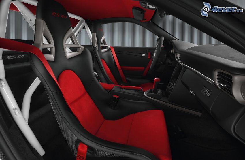 Porsche 911 GT3, interior, asiento