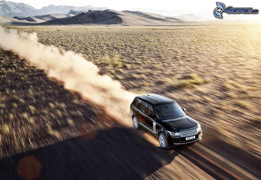 Range Rover, desierto, acelerar