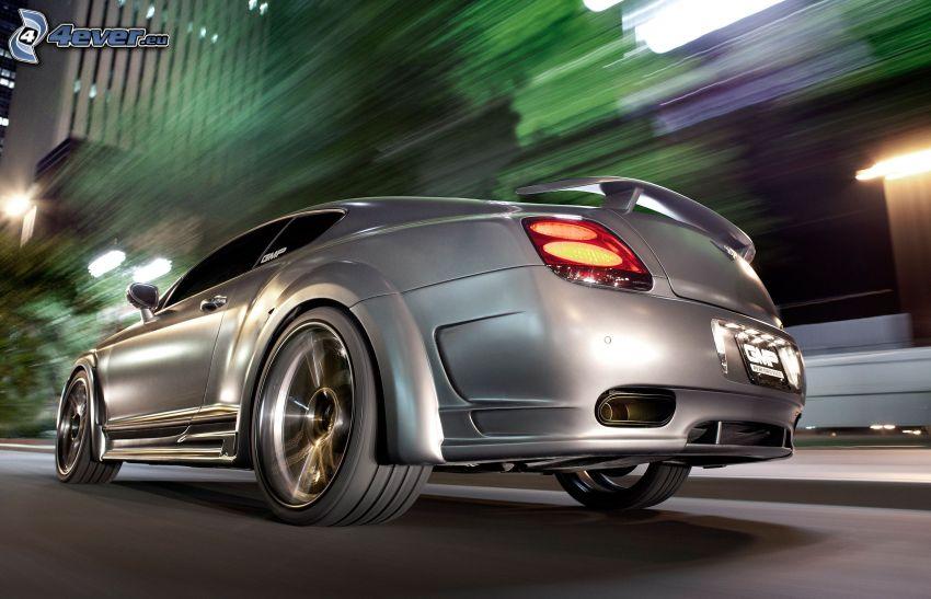 Bentley Continental, luz trasera, acelerar